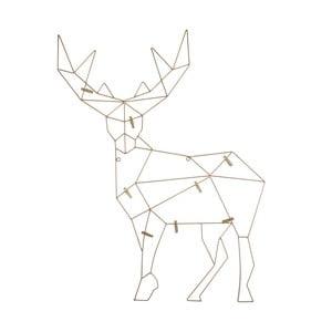 Dekoracja ścienna z klamerkami na zdjęcia Deer