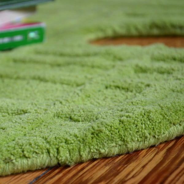 Zielony dywan dziecięcy Teddy, 100x120 cm