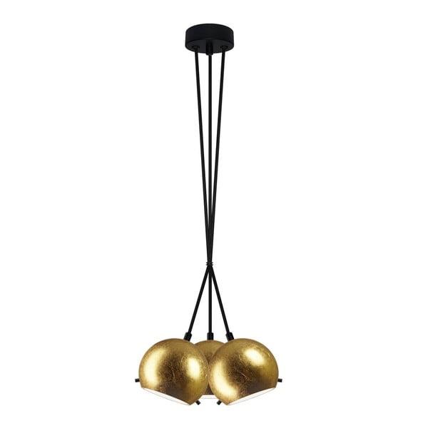 Potrójna lampa MYOO gold/black/black