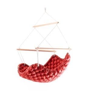 Czerwony fotel wiszący do wnętrz Swingy In Mystic