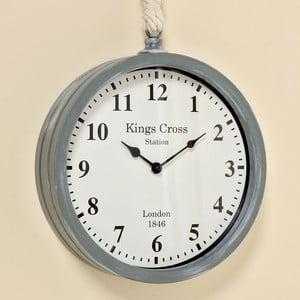 Zegar ścienny Devon Grey, 26 cm