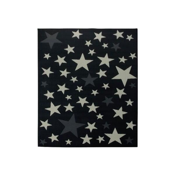 Dywan City & Mix - czarny w gwiazdy, 140x200 cm