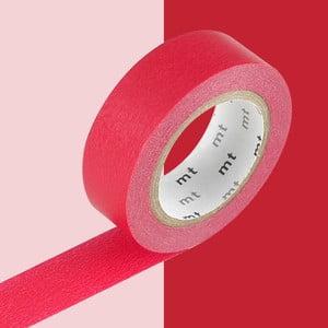 Taśma dekoracyjna washi Uni Red