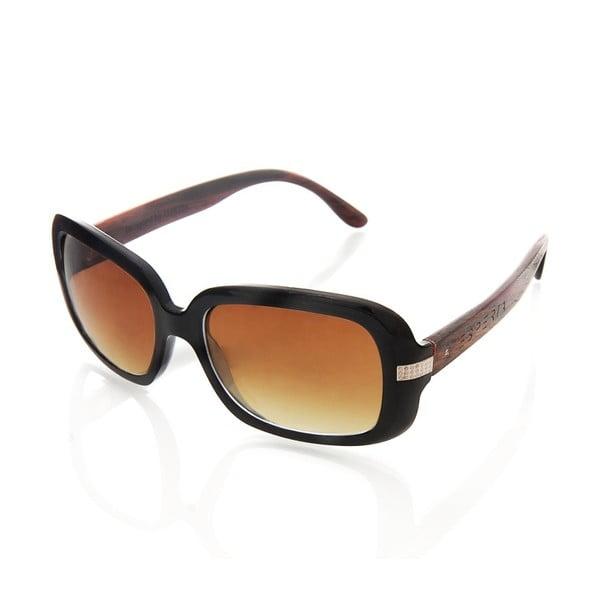 Drewniane okulary przeciwsłoneczne Pebble Black