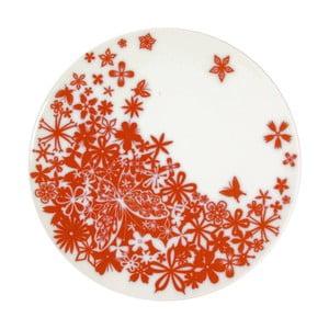 Zestaw 2 talerzy do serwowania Butterfly Red