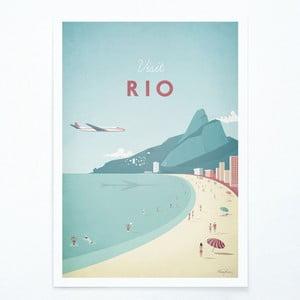 Plakat Travelposter Rio, A3