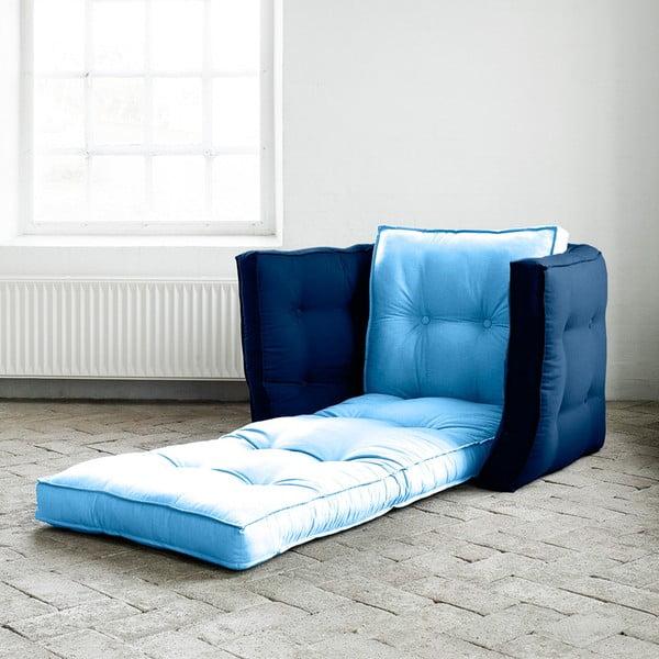 Fotel rozkładany Karup Dice Celeste/Royal