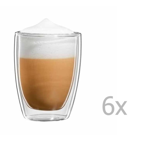 Zestaw 6   kubków na cappuccino bloomix Roma