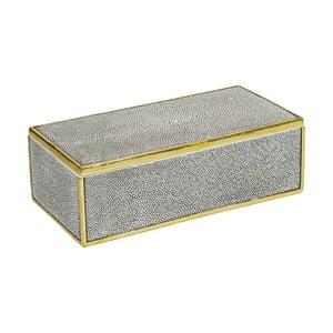 Szare pudełko ze złotym detalem Santiago Pons Pearl