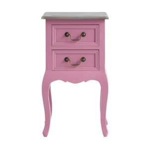 Różowa szafka z drewna sosnowego z 2 szufladami Støraa Rianna