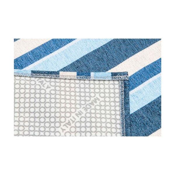 Wytrzymały dywan kuchenny Webtapetti Stripes Blue, 80x130 cm