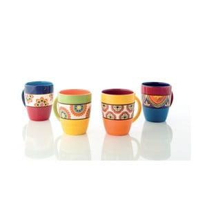 Zestaw 4 kolorowych kubków ceramicznych Brandani