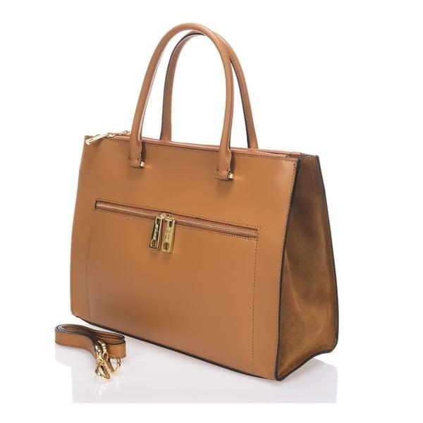 Skórzana torebka Krole Kate, koniakowa
