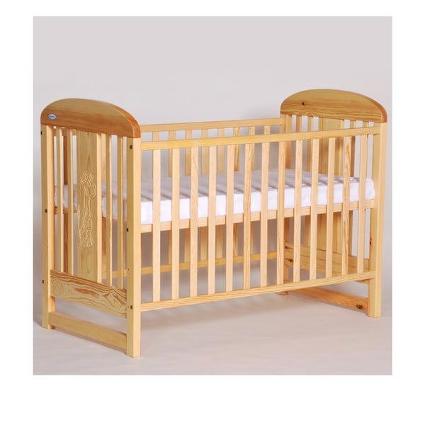 Łóżeczko dziecięce z bokami na stałe Olina, sosna