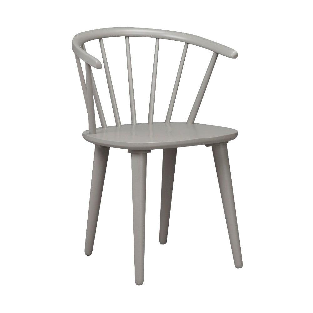 Jasnoszare krzesło do jadalni z drewna kauczukowca Rowico Carmen | Bonami