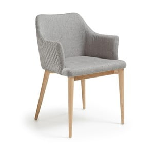 Jasnoszare krzesło La Forma Danai