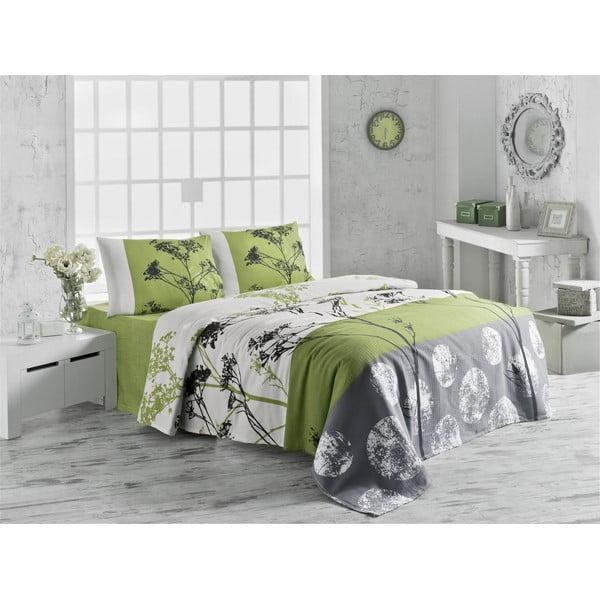 Cienka narzuta na łóżko dwuosobowe Belezza Green, 200x230 cm