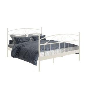 Białe łóżko dwuosobowe Støraa Bibi, 180x200 cm