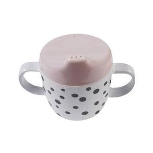 Kubek z uszkami Happy Dots, różowy