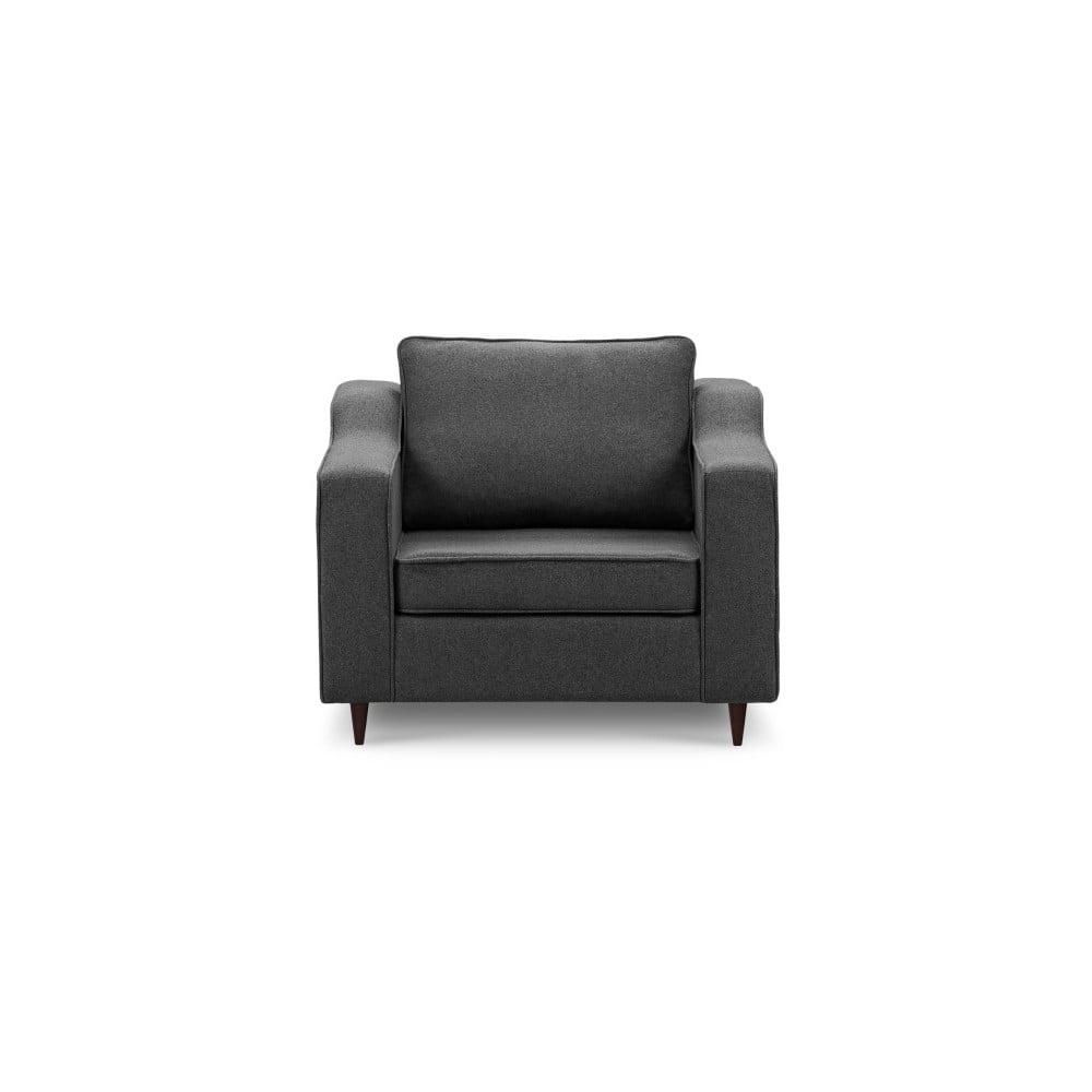 Antracytowy fotel Mazzini Sofas Narcisse