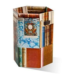 Kartonowy kosz na śmieci Books