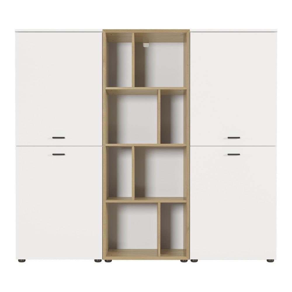 Biała szafa z półkami Germania Coruna, szer. 162 cm