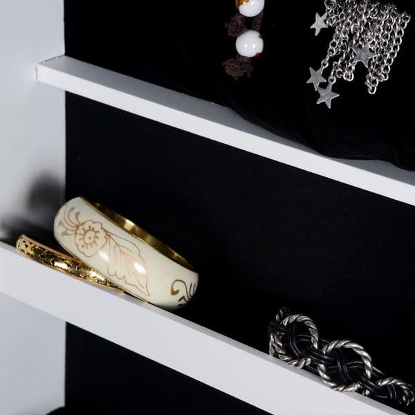 Lustro ze schowkiem na biżuterię Joyero, 146x37x41 cm