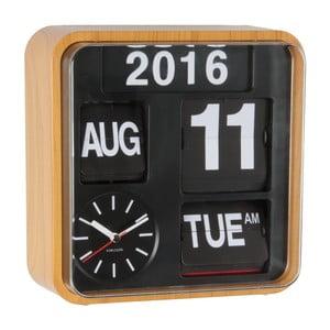 Brązowy zegar Present Time Mini Flip