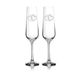 Zestaw 2 kieliszków do szampana Prema ze Swarovski Elements w eleganckim opakowaniu