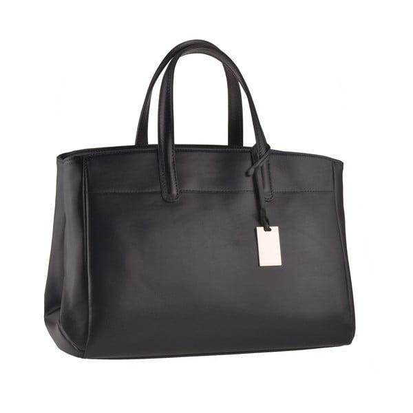 Skórzana torebka Emilio Masi Propus, czarna