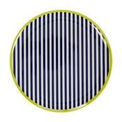 Czarno-biały talerz z zielonym detalem Premier Housewares Mimo, ⌀25cm