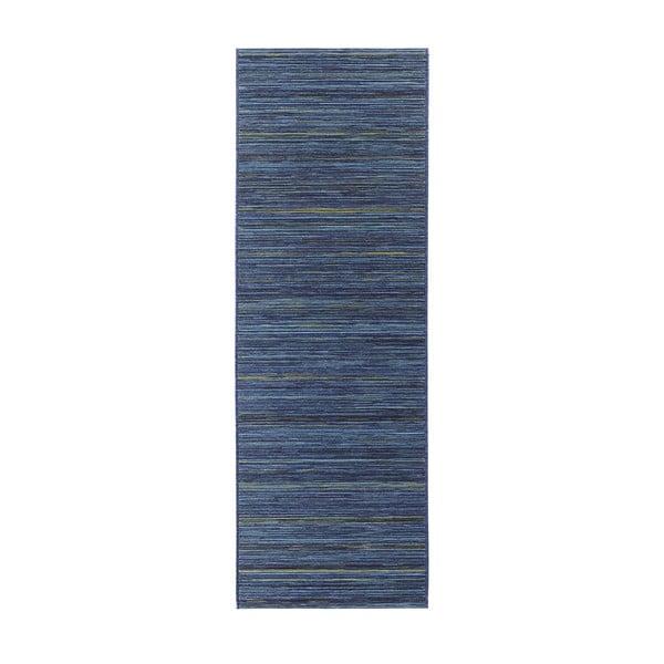 Dywan nadający się na zewnątrz Lotus 80x240 cm, niebieskie paski