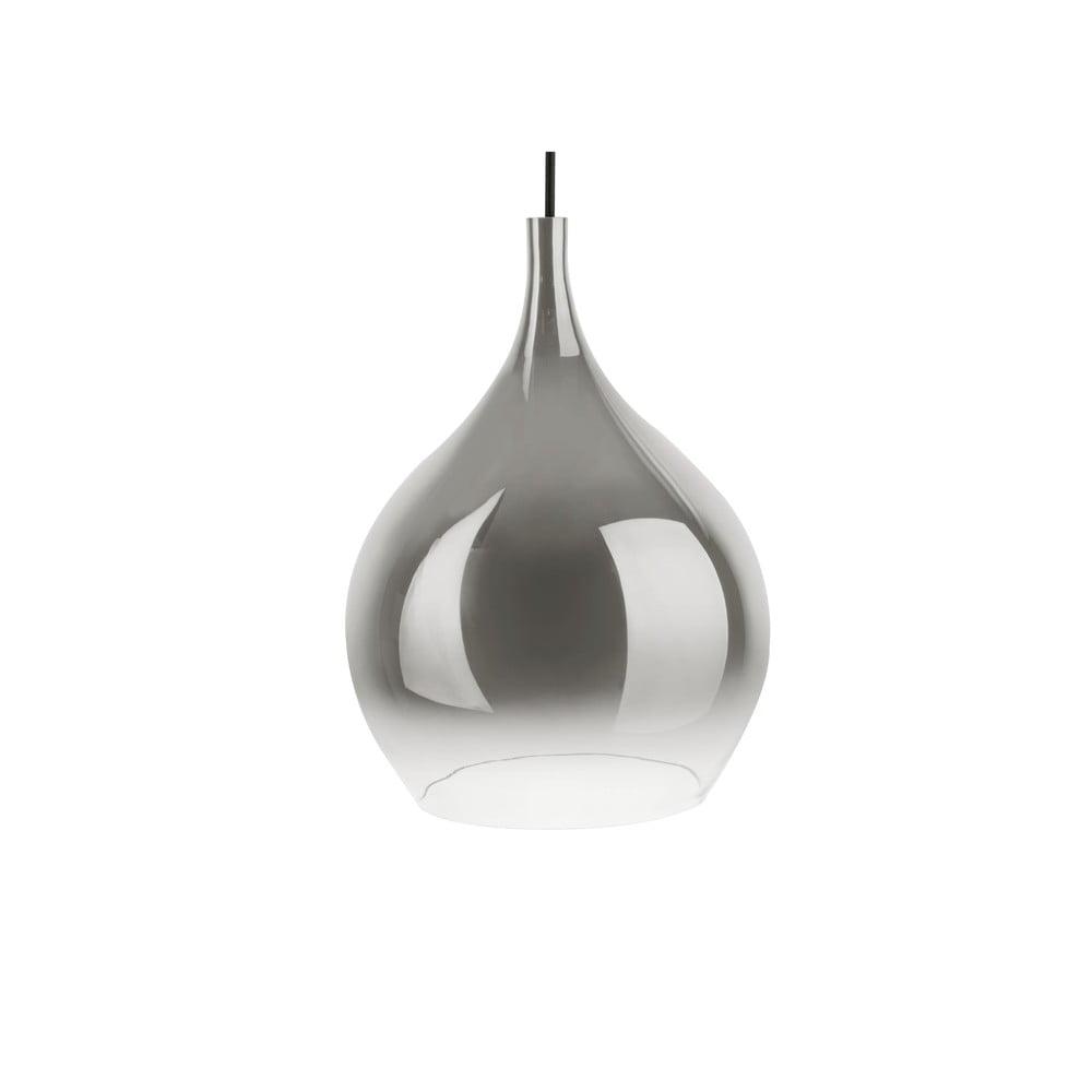 Szara szklana lampa wisząca Leitmotiv Drup Large,ø26cm