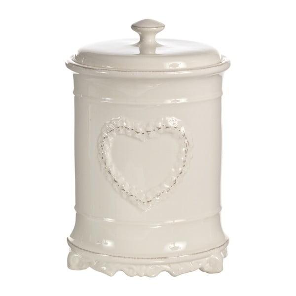 Okrągły pojemnik z sercem Barattolo, 25 cm