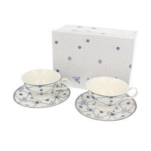 Zestaw 2 porcelanowych filiżanek z podstawką Wien, 220 ml