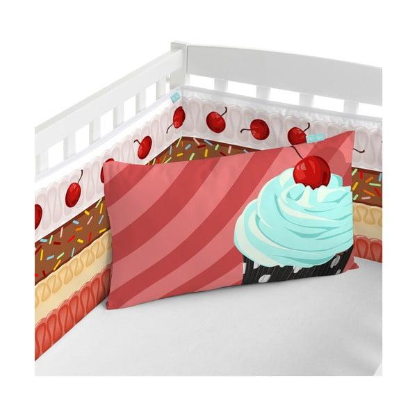 Regulowany ochraniacz do łóżeczka Mr. Fox Candy House, 210x40 cm