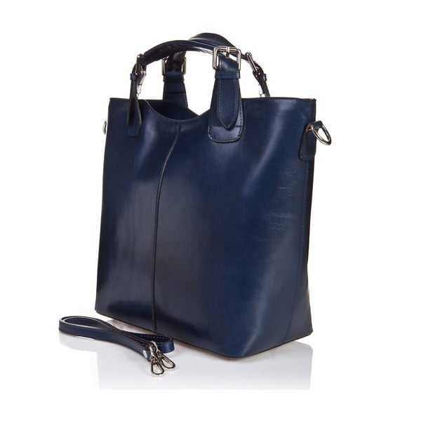 Niebieska   torebka skórzana Massimo Castelli Valeria