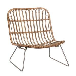 Naturalny fotel rattanowy Hübsch Dagfinn