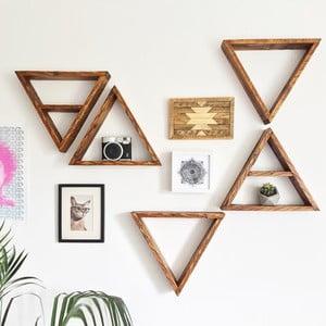 Zestaw 5 półek drewnianych Ava