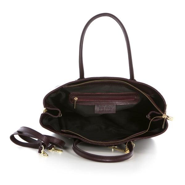 Skórzana torebka Saffiano Bordeaux