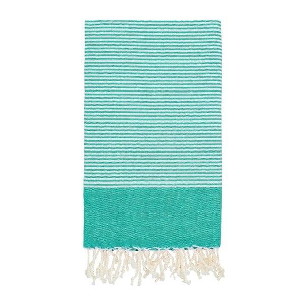 Ręcznik hammam Side Green, 100x180 cm