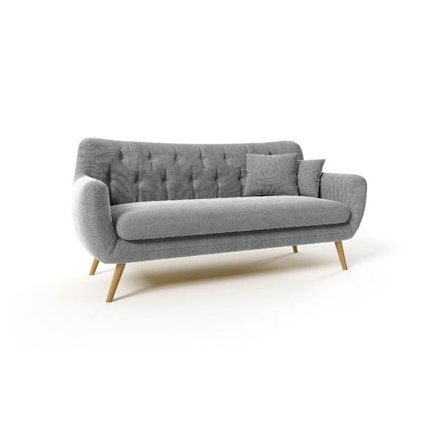 Trzyosobowa sofa Renne, szara