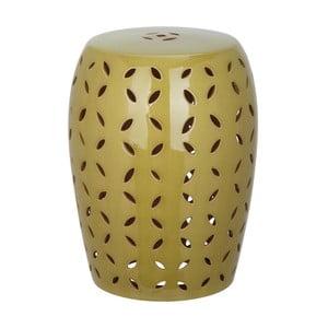 Zielony stolik porcelanowy Safavieh Atticus Khaki