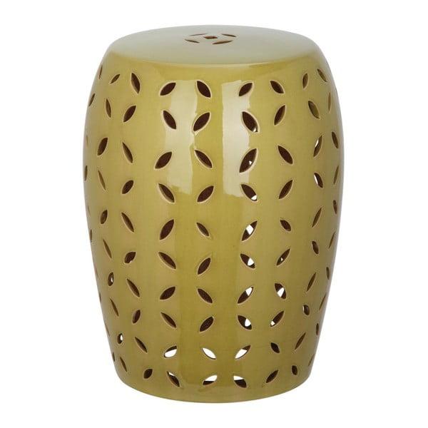 Zielony stolik porcelanowy odpowiedni na zewnątrz Safavieh Atticus Khaki