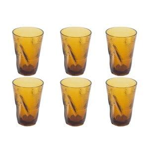 Zestaw 6 żółtych szklanek Kaleidos, 340ml