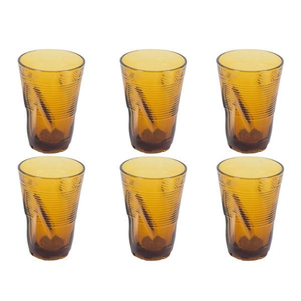 Zestaw 6 szklanek Kaleidos 340 ml, bursztynowy