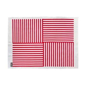 Dywan Lona Print 200x150 cm, czerwony/biały