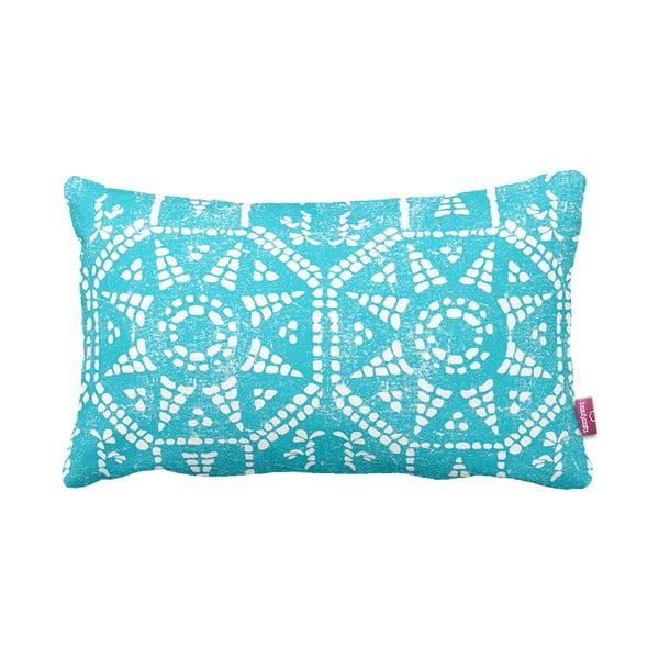 Turkusowo-biała  poduszka Homemania Blue Sun, 35x60cm