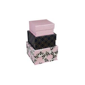 Zestaw 3 pudełek Navy Blush