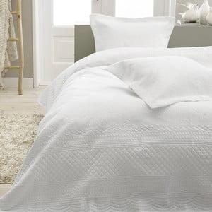 Biała narzuta dwuosobowa z 2 poszewkami na poduszki Sleeptime Charlene 260x250 cm